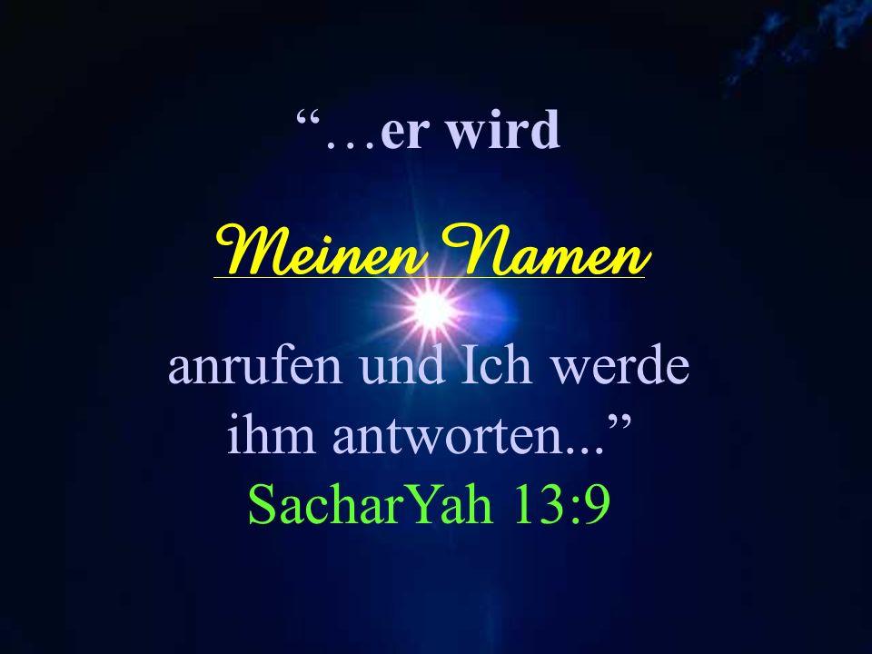 anrufen und Ich werde ihm antworten... SacharYah 13:9