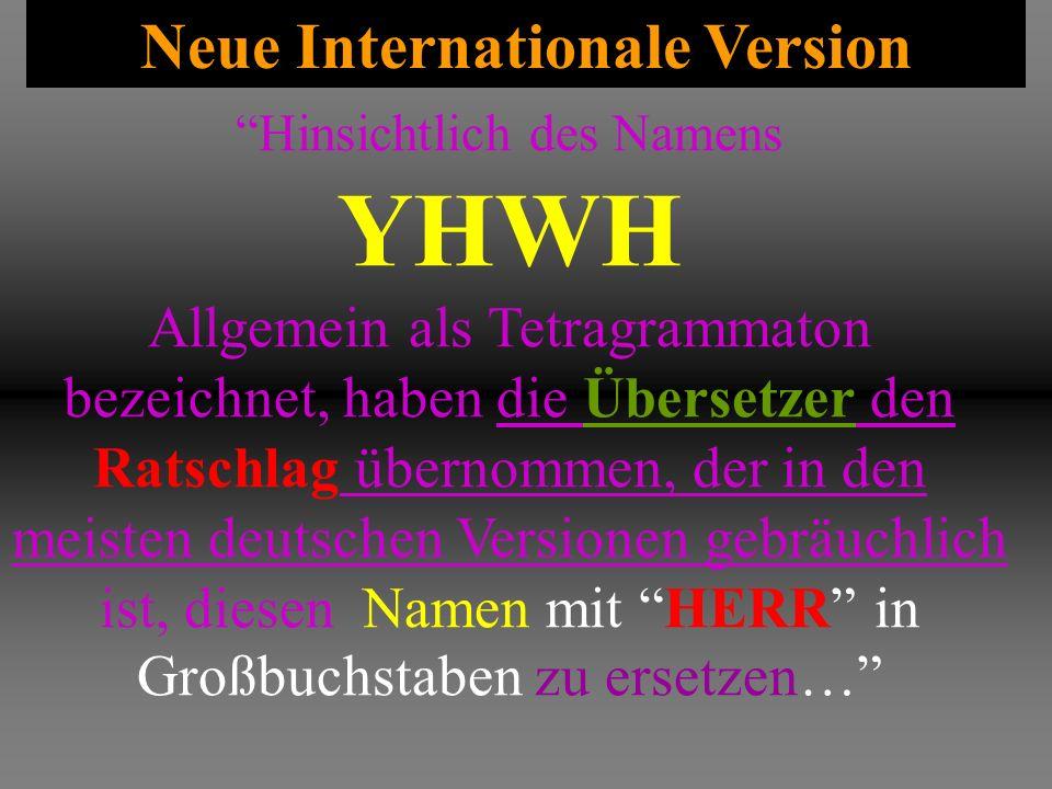 Neue Internationale Version