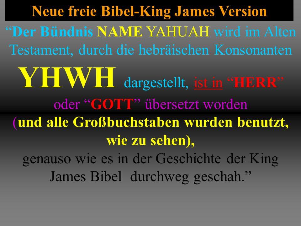 Neue freie Bibel-King James Version