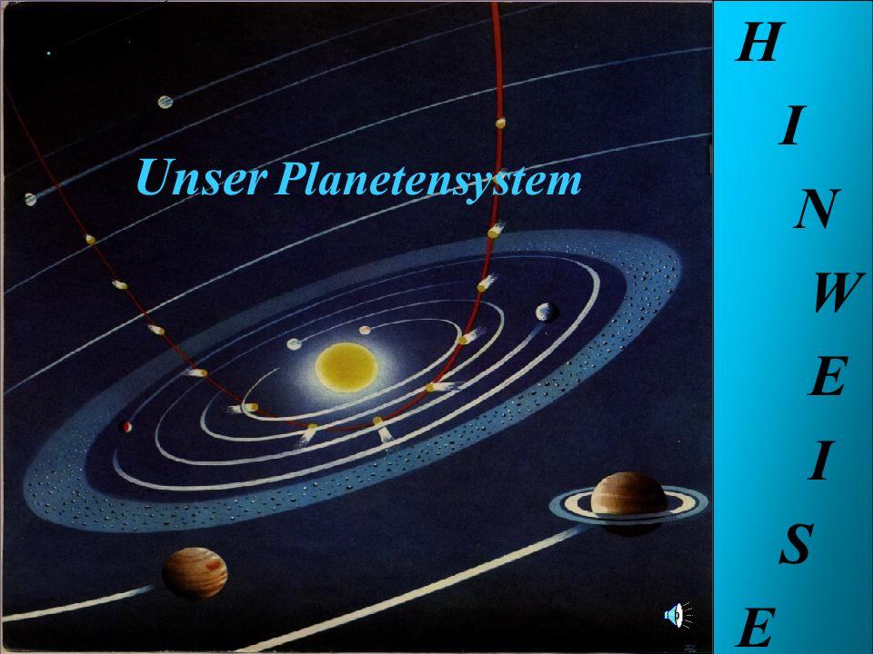 H I N W E S Unser Planetensystem . Unser Planetensystem