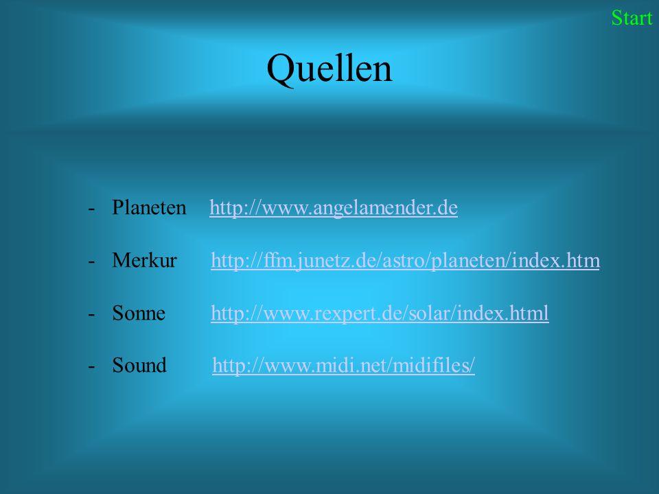 Quellen Start Planeten http://www.angelamender.de