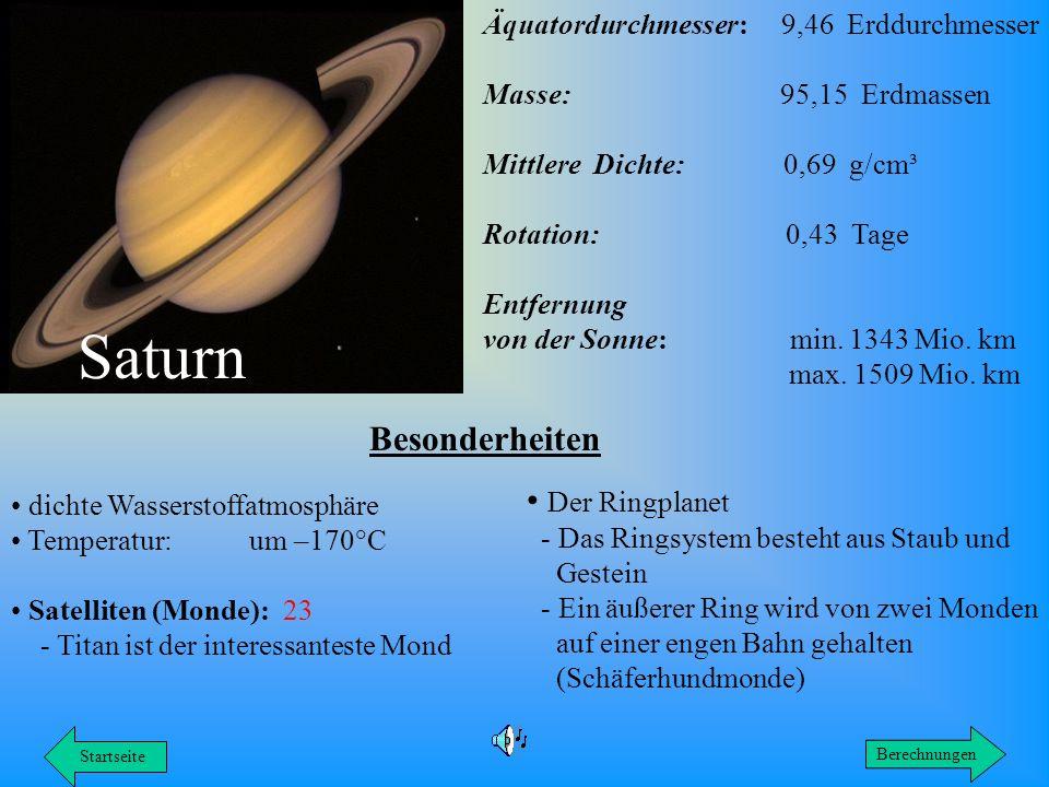 Saturn Besonderheiten Der Ringplanet