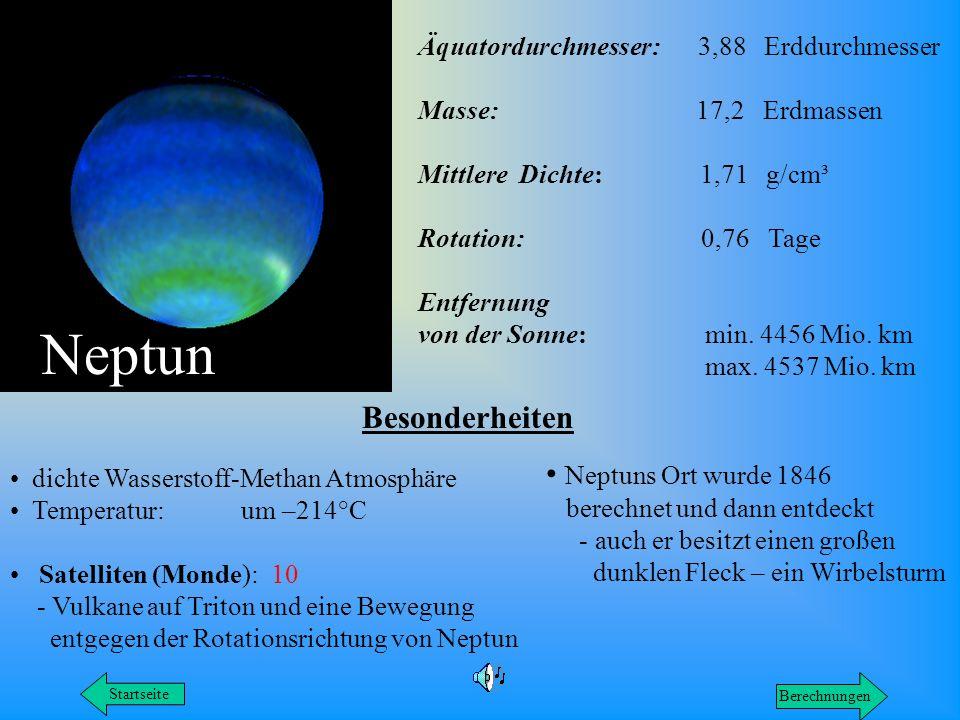Neptun Besonderheiten Neptuns Ort wurde 1846