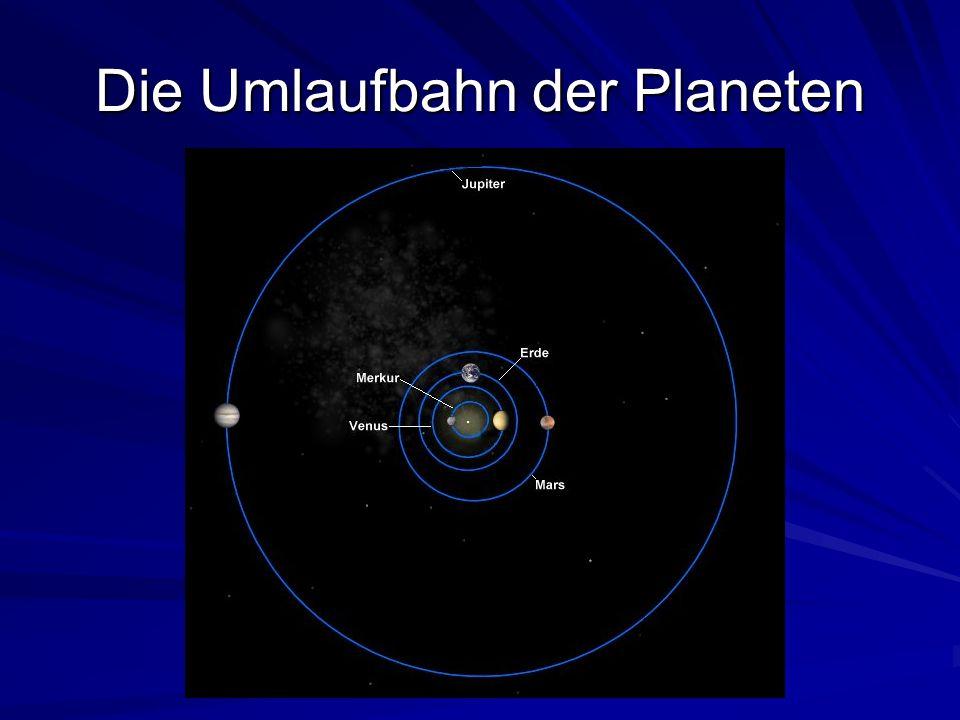 Die Umlaufbahn der Planeten