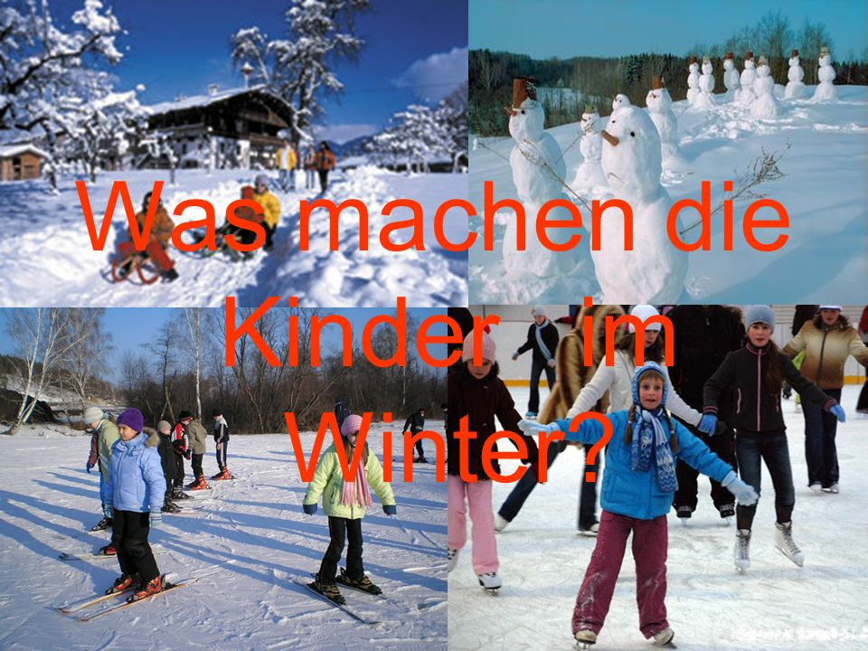 Was machen die Kinder im Winter