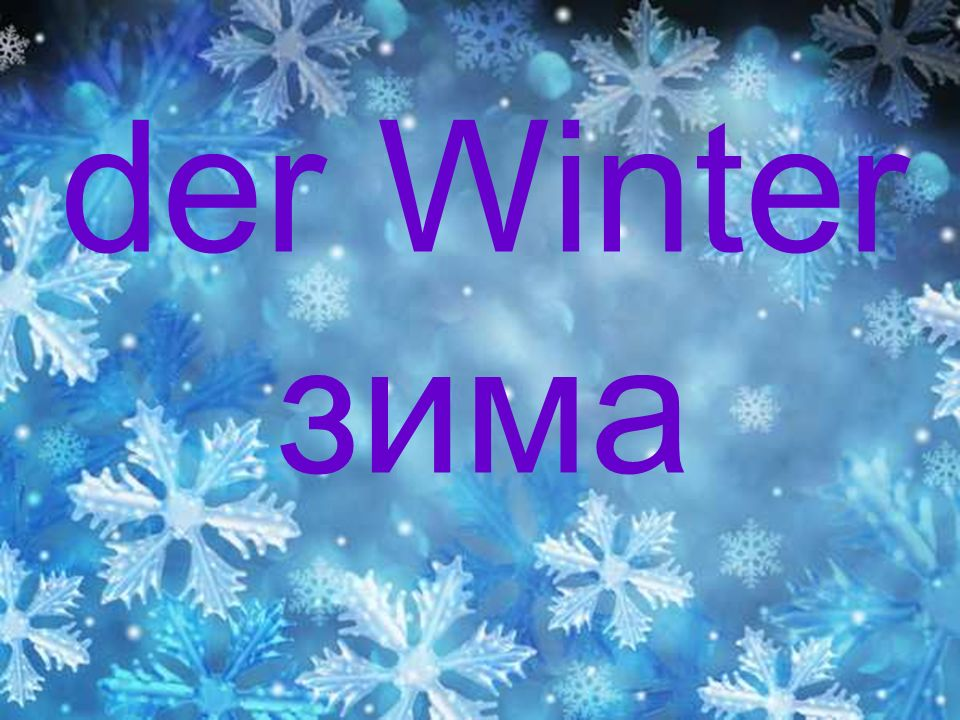 der Winter зима