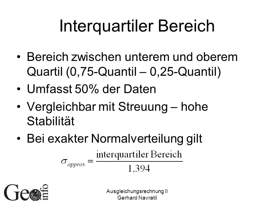 Interquartiler Bereich