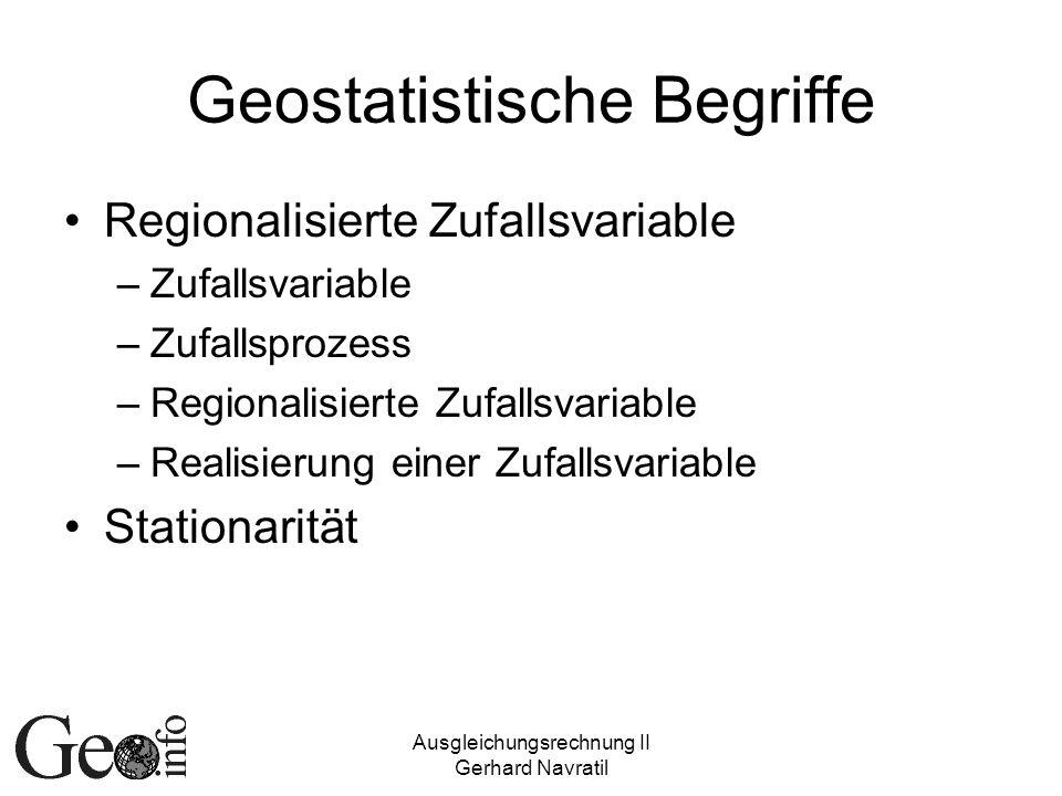 Geostatistische Begriffe