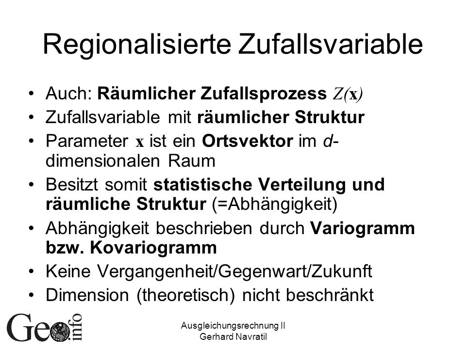 Regionalisierte Zufallsvariable