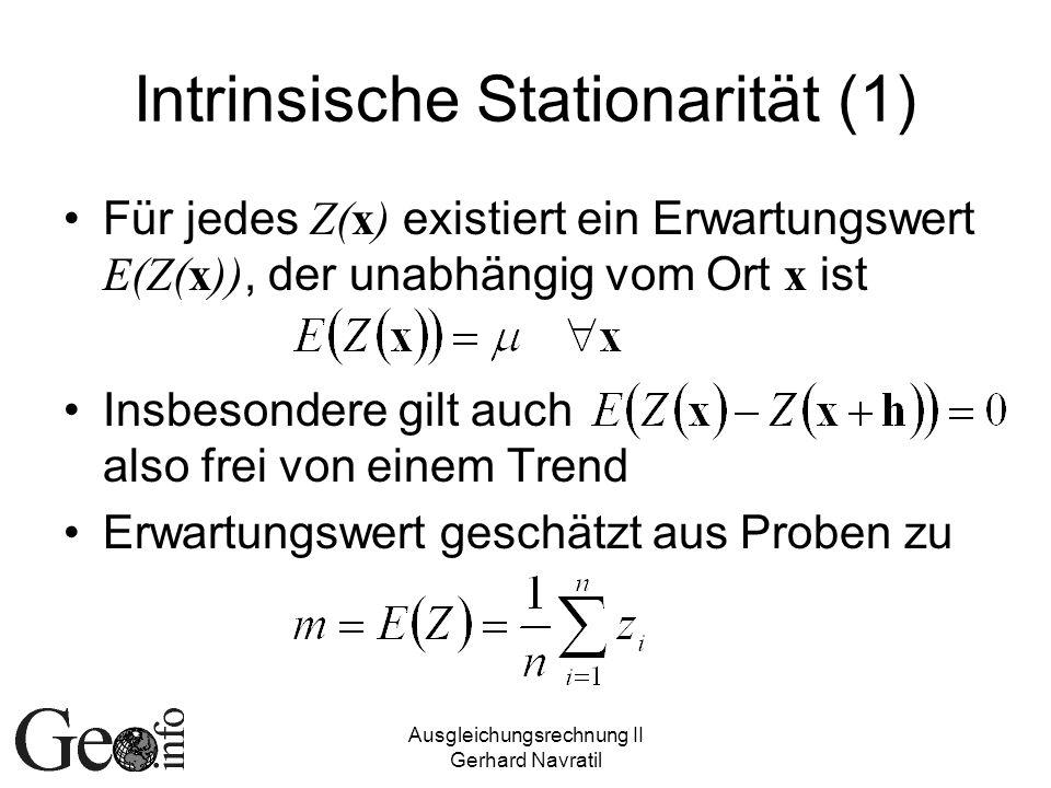Intrinsische Stationarität (1)