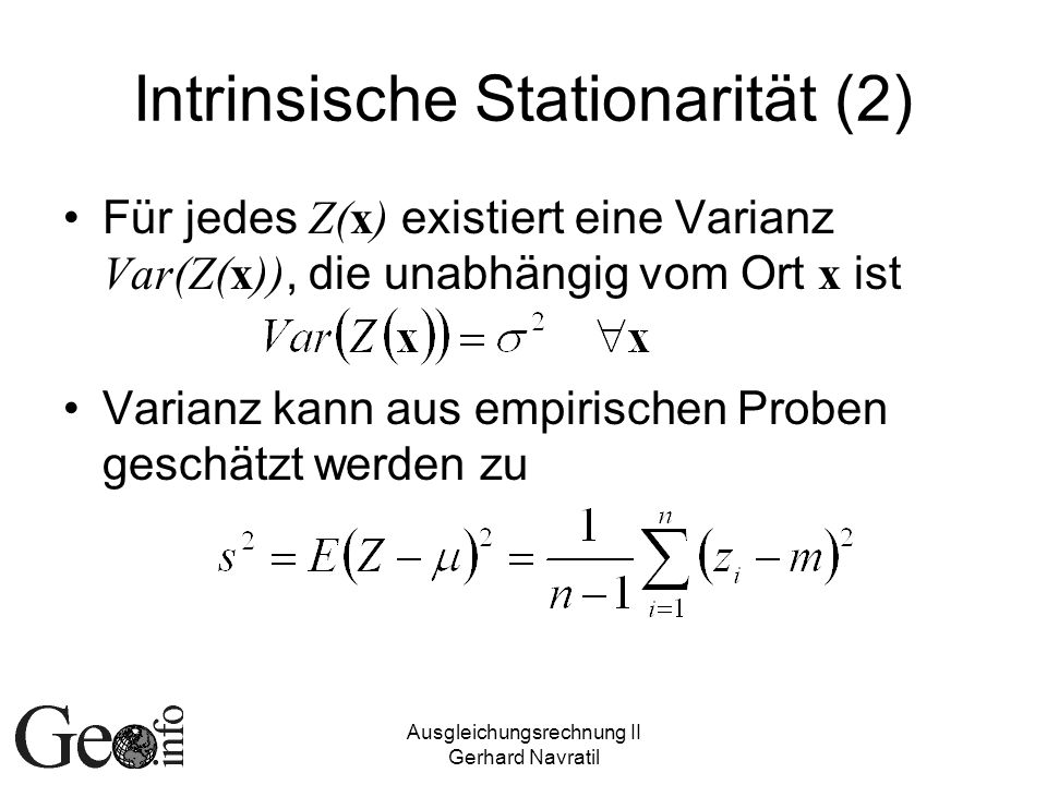 Intrinsische Stationarität (2)