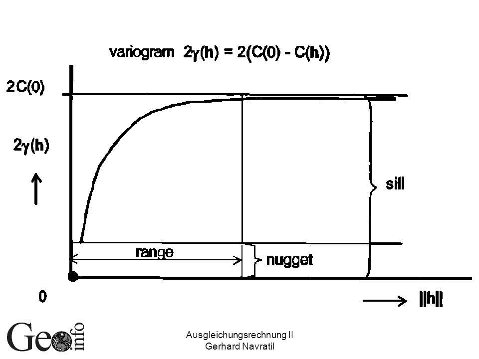 Ausgleichungsrechnung II
