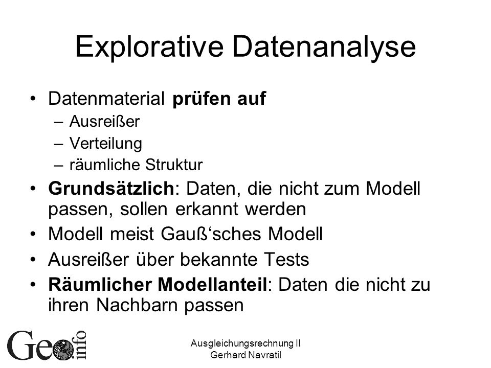 Explorative Datenanalyse