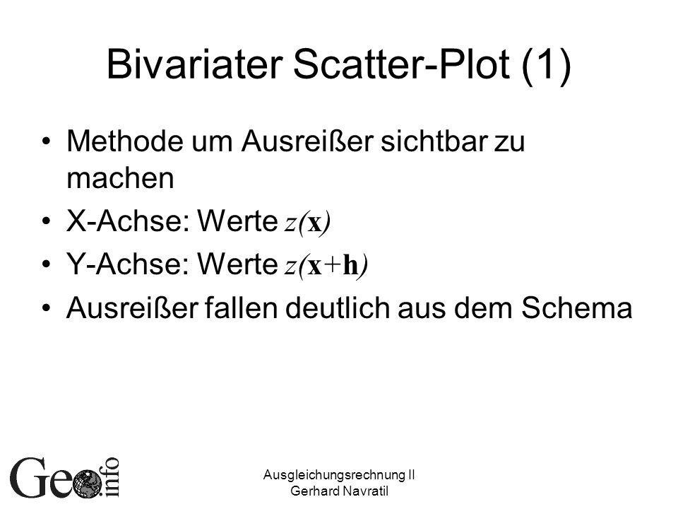 Bivariater Scatter-Plot (1)