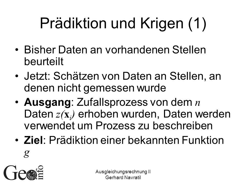Prädiktion und Krigen (1)
