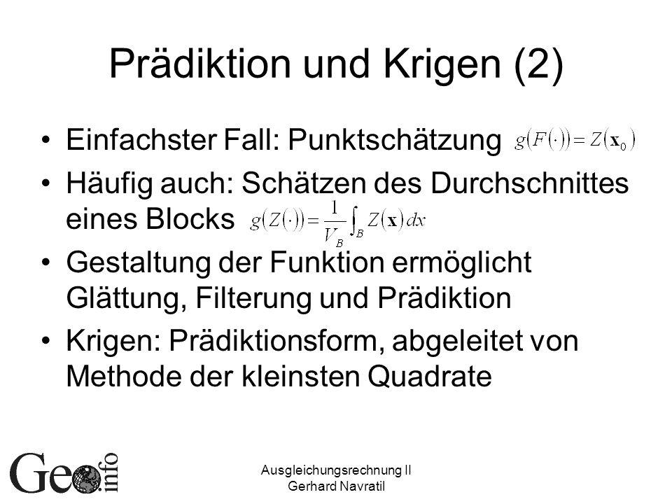 Prädiktion und Krigen (2)