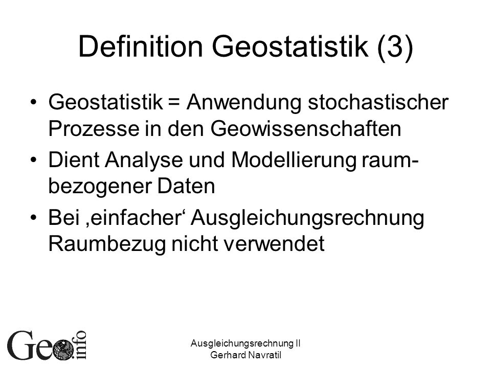 Definition Geostatistik (3)