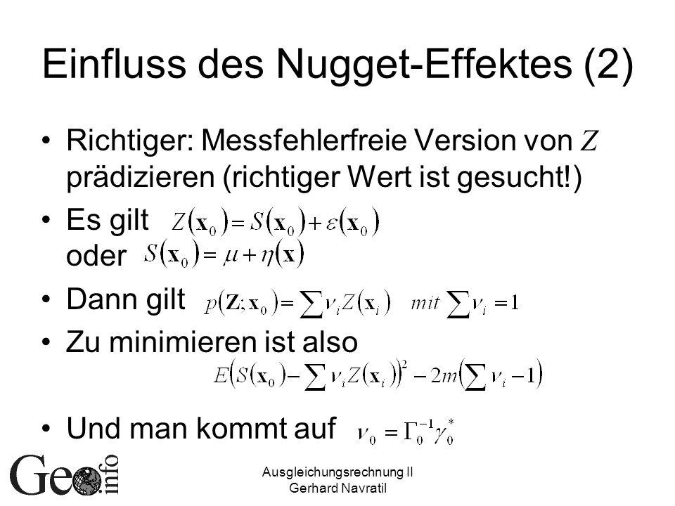 Einfluss des Nugget-Effektes (2)