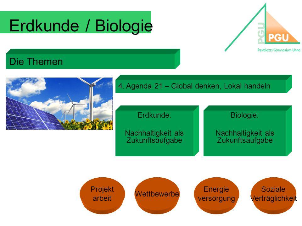 Erdkunde / Biologie Die Themen