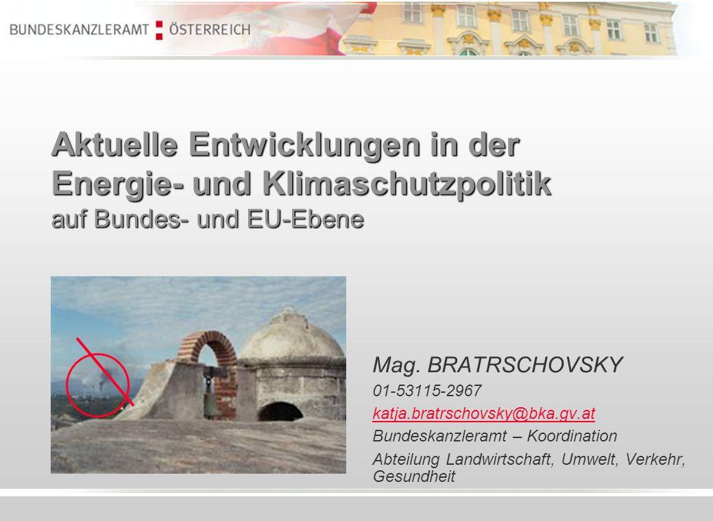 Aktuelle Entwicklungen in der Energie- und Klimaschutzpolitik auf Bundes- und EU-Ebene