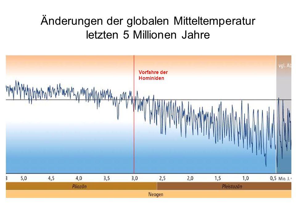 Änderungen der globalen Mitteltemperatur letzten 5 Millionen Jahre