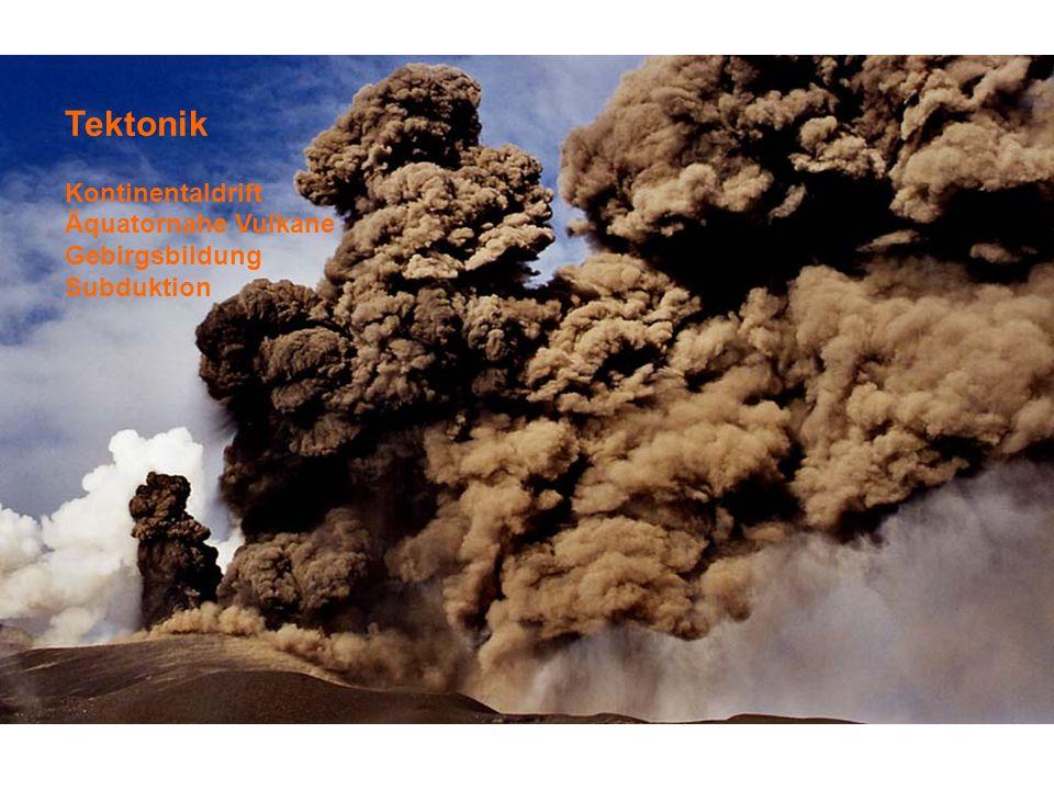 Tektonik Kontinentaldrift Äquatornahe Vulkane Gebirgsbildung