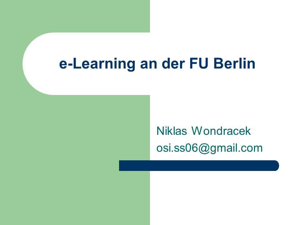 e-Learning an der FU Berlin