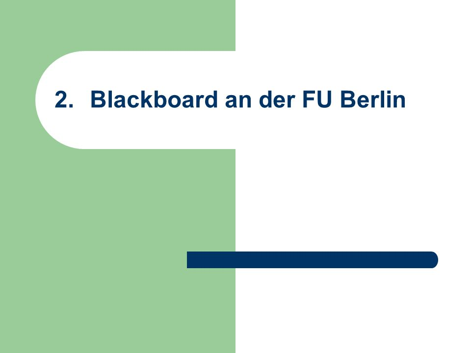 Blackboard an der FU Berlin