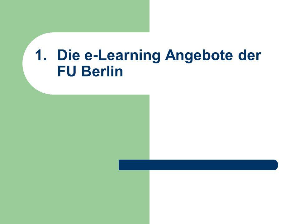 Die e-Learning Angebote der FU Berlin