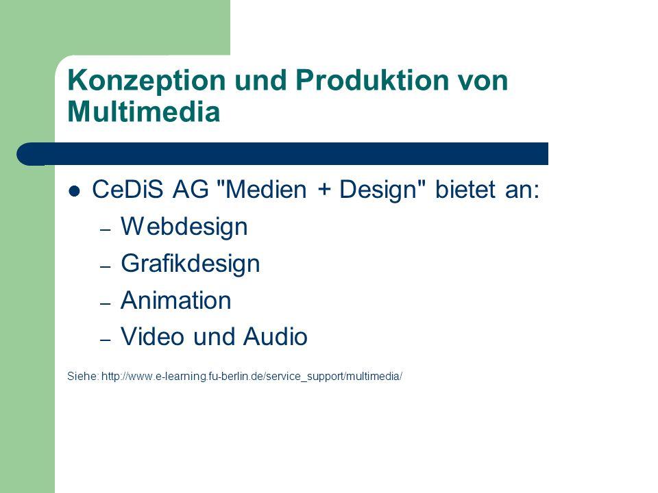 Konzeption und Produktion von Multimedia