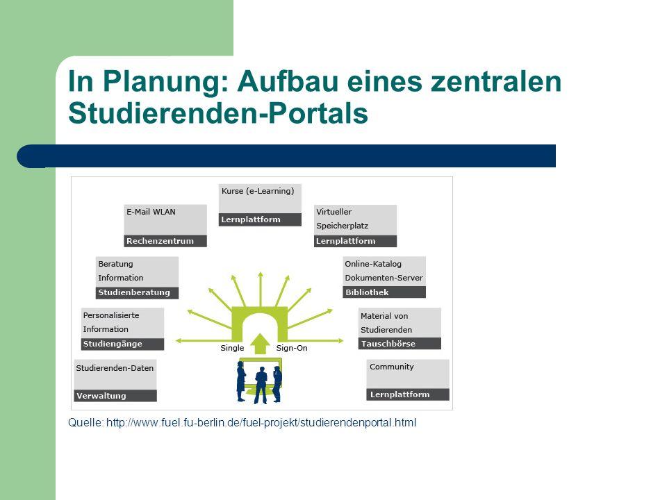 In Planung: Aufbau eines zentralen Studierenden-Portals