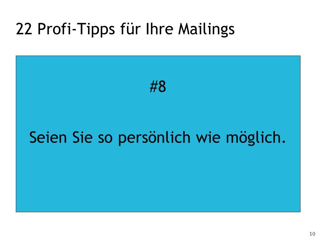 22 Profi-Tipps für Ihre Mailings