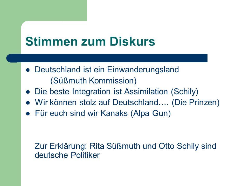 Stimmen zum Diskurs Deutschland ist ein Einwanderungsland