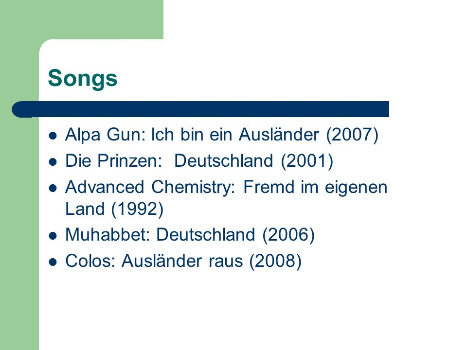 Songs Alpa Gun: Ich bin ein Ausländer (2007)
