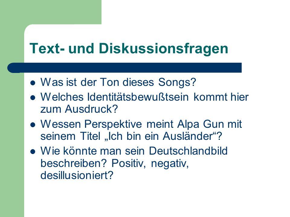 Text- und Diskussionsfragen