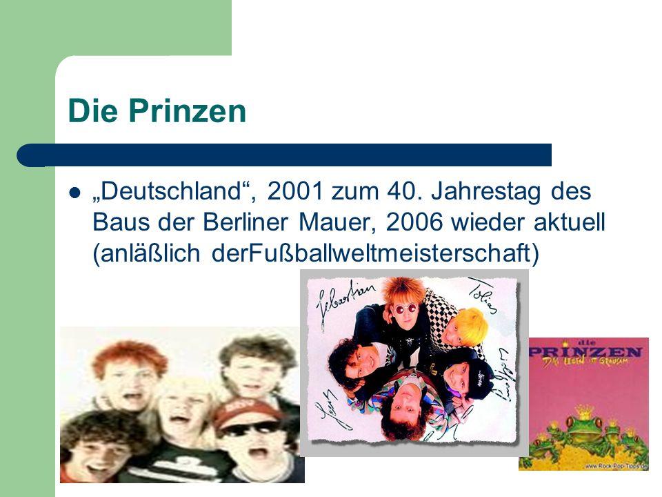 """Die Prinzen """"Deutschland , 2001 zum 40."""