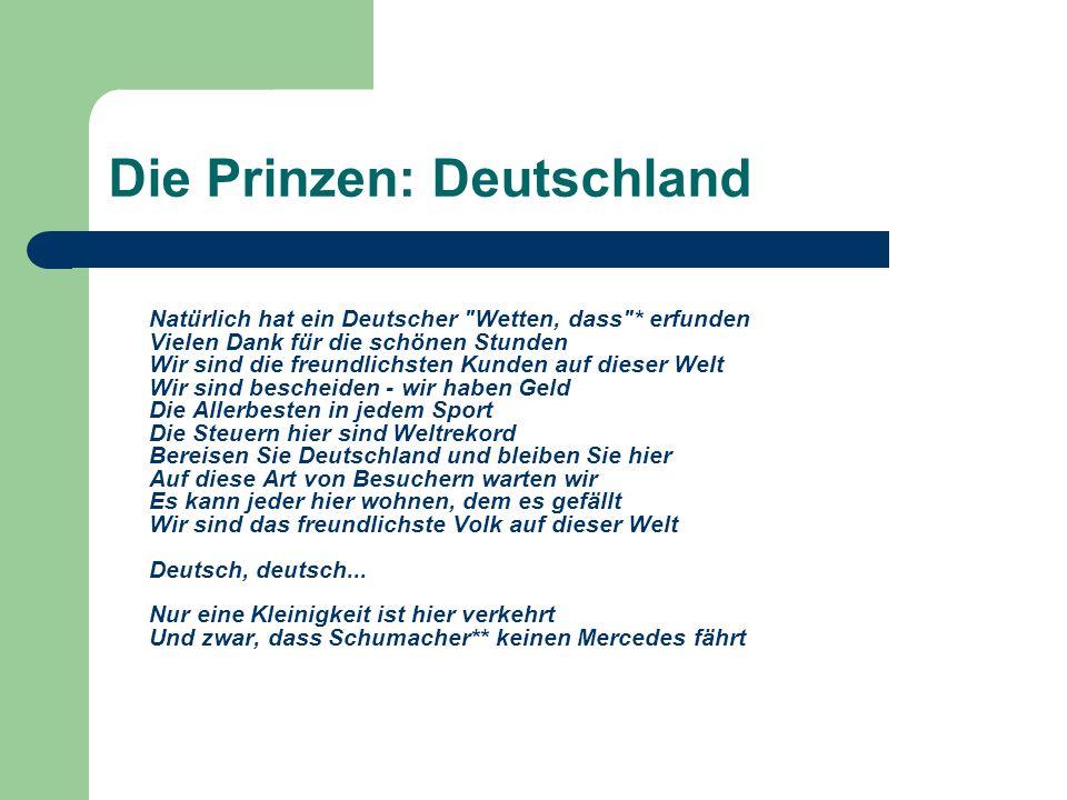 Die Prinzen: Deutschland