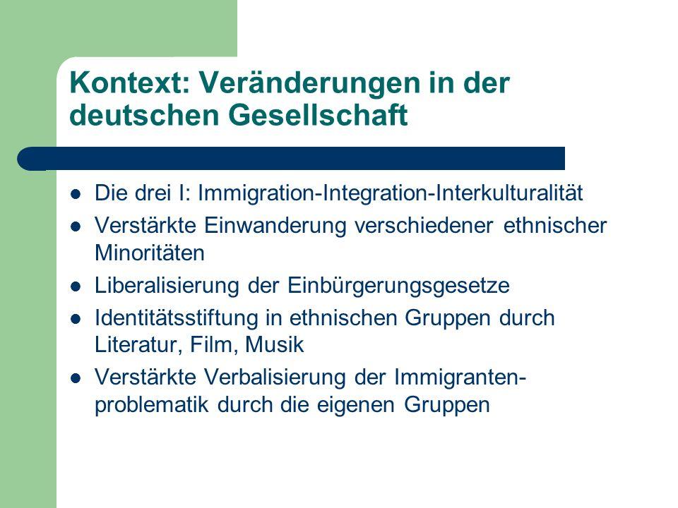 Kontext: Veränderungen in der deutschen Gesellschaft