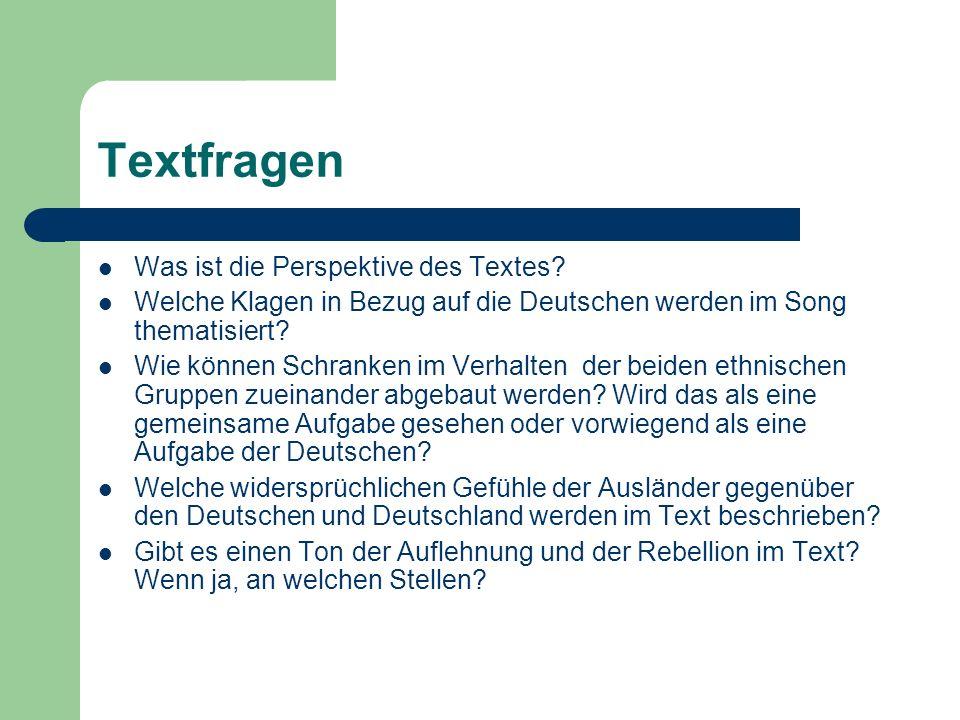 Textfragen Was ist die Perspektive des Textes