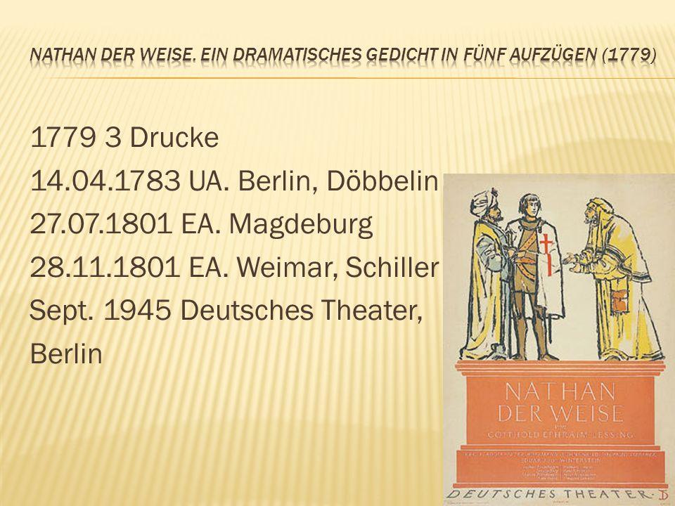 Nathan der Weise. Ein dramatisches Gedicht in fünf Aufzügen (1779)