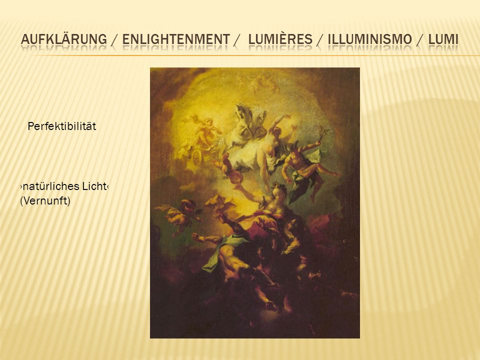 Aufklärung / enlightenment / lumières / illuminismo / lumi