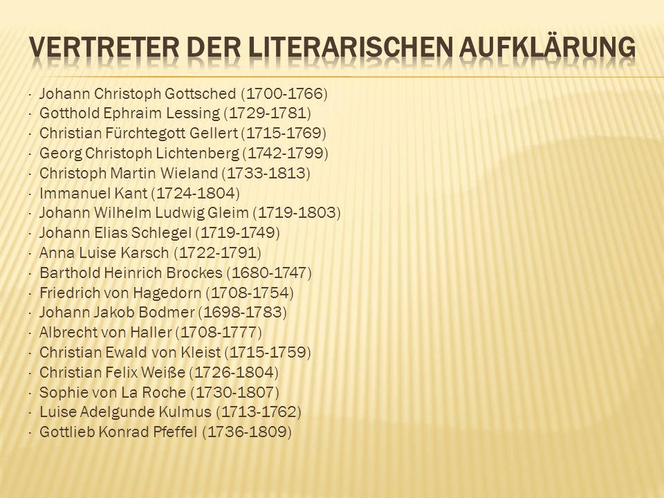 Vertreter der literarischen aufklärung