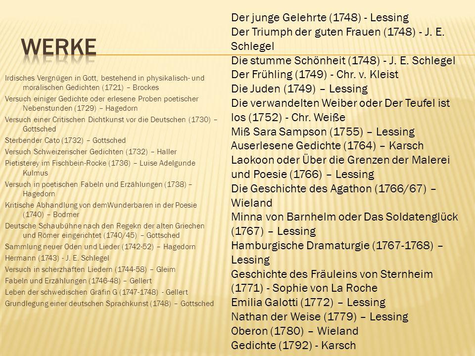 Werke Der junge Gelehrte (1748) - Lessing