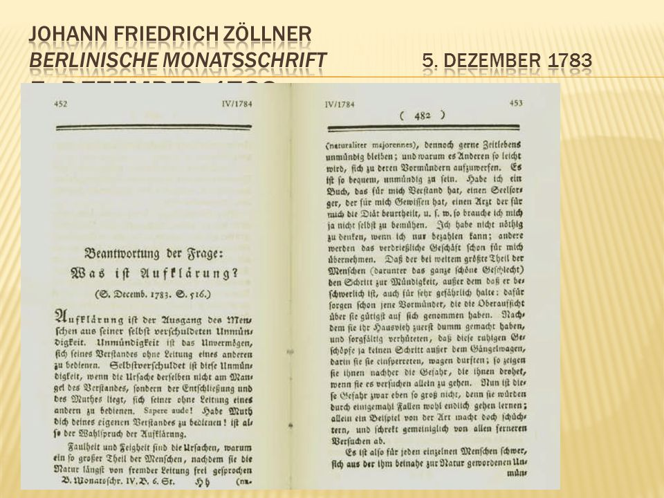 Johann Friedrich Zöllner Berlinische Monatsschrift 5. Dezember 1783 5