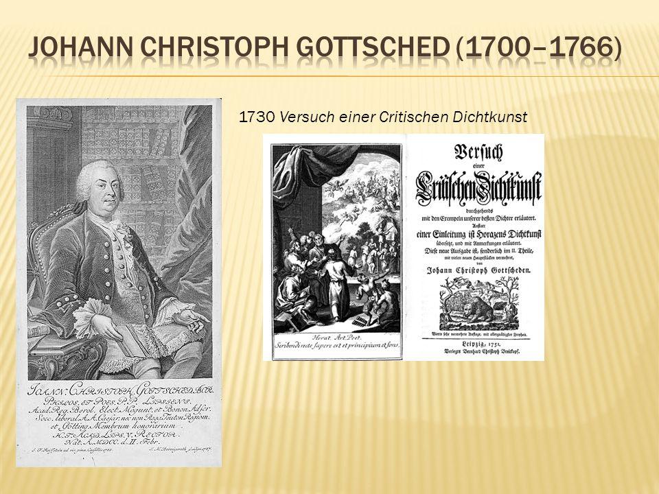 Johann Christoph Gottsched (1700–1766)