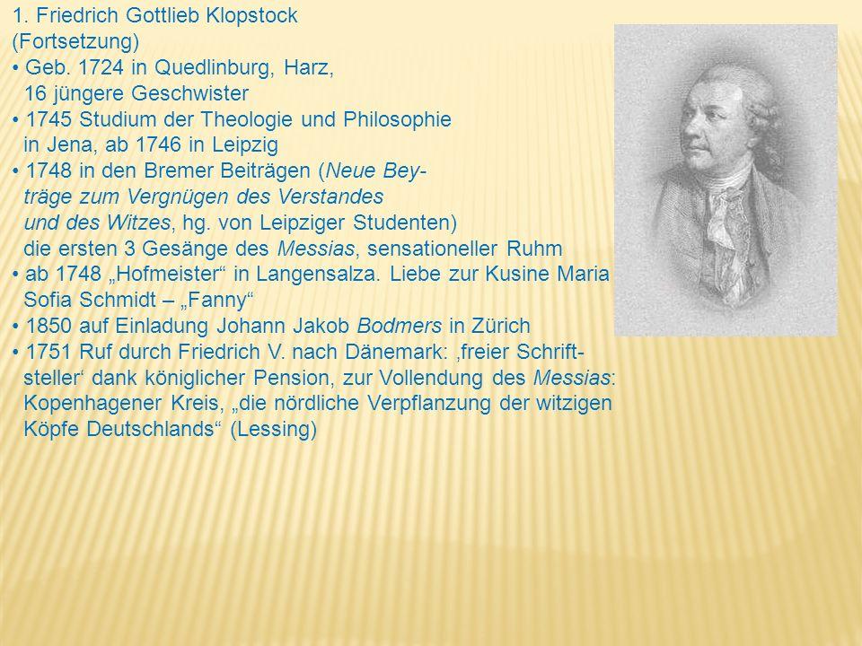 1. Friedrich Gottlieb Klopstock
