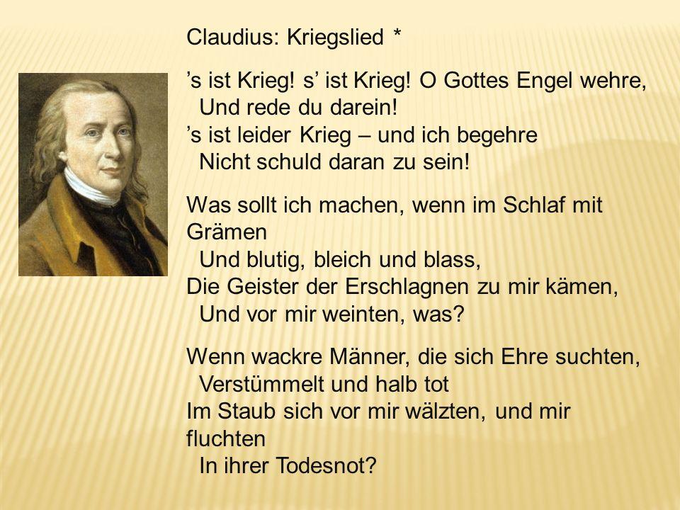 Claudius: Kriegslied *