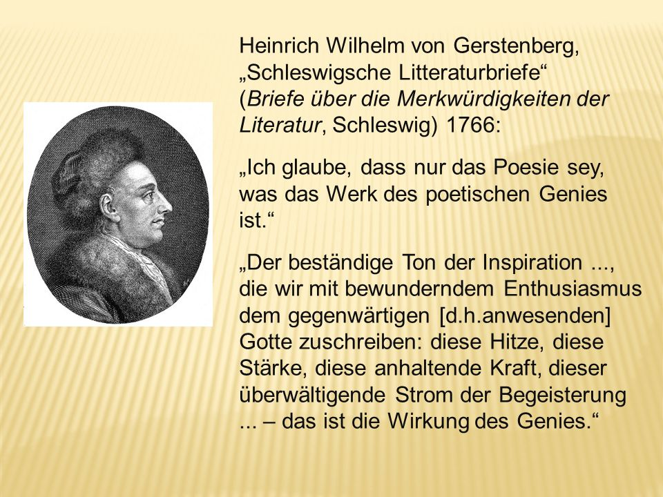 """Heinrich Wilhelm von Gerstenberg, """"Schleswigsche Litteraturbriefe"""