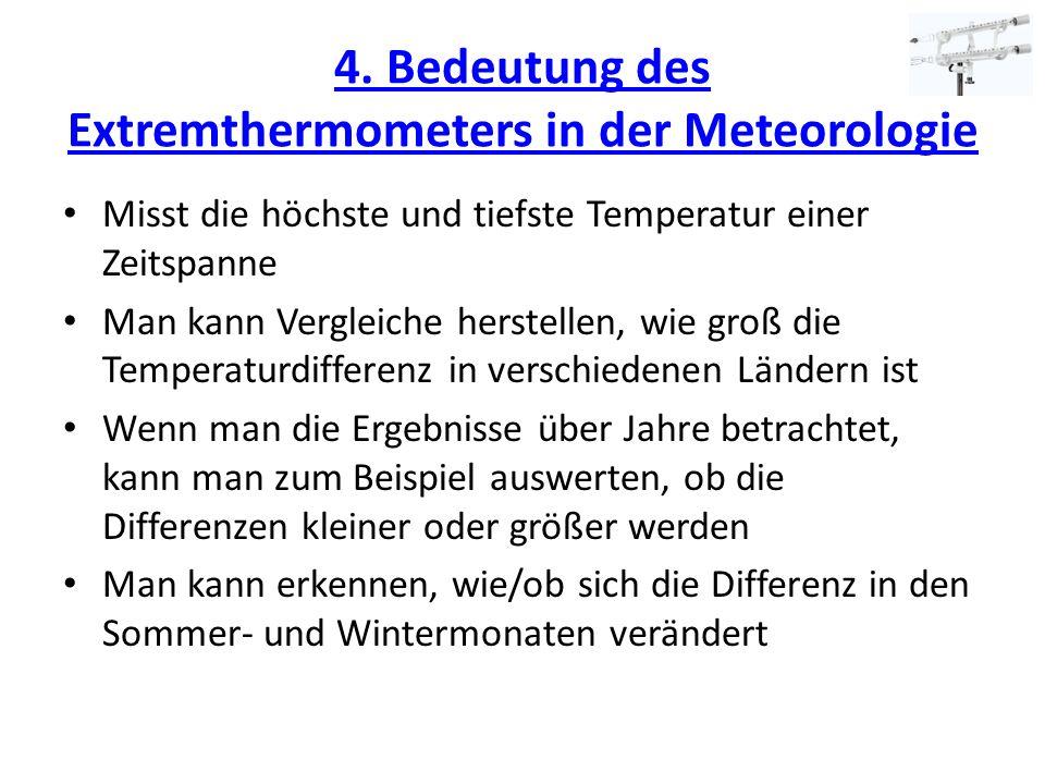4. Bedeutung des Extremthermometers in der Meteorologie