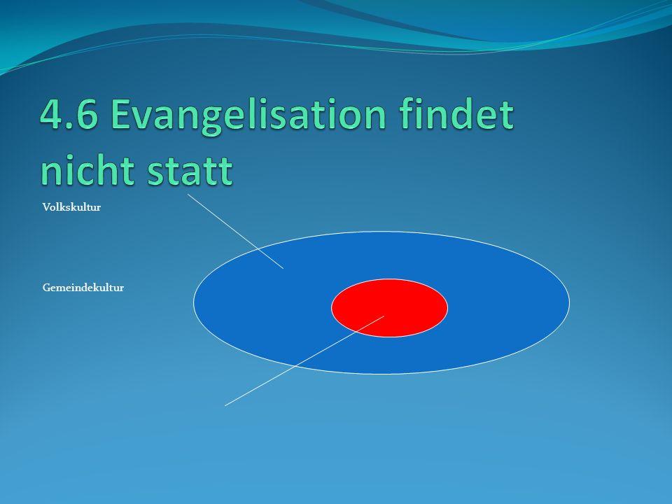 4.6 Evangelisation findet nicht statt